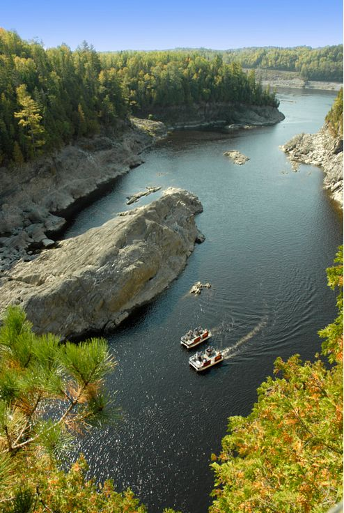 You can take a tour boat through the Grand Falls Gorge to get a unique look at this natural phenomenon. | New Brunswick, Canada travel #ExploreNB #ExploreCanada