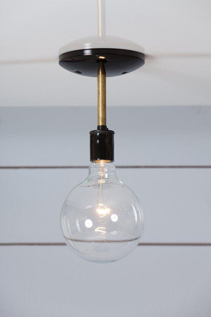 Brass Semi Flush Mount Ceiling Light - $45.00