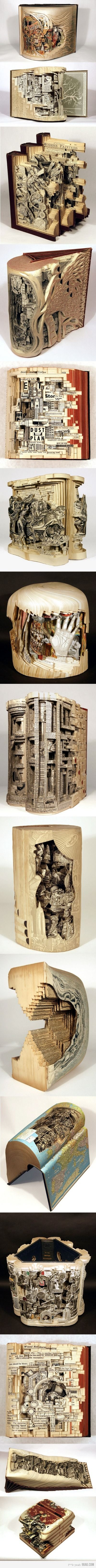 Awesome books are awesomeAltered Art Book, Awesome Book, Book Art, Carvings Book, Bookart, Book Sculpture, Book Carvings, Paper Art, Altered Book