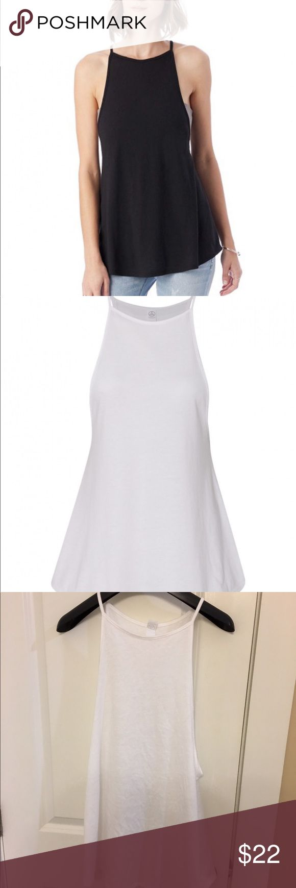 Alternative Apparel VIP 50/50 tank Never worn!! Beautiful white top. Would look great with a bandeau. Cover photo is in color Silver. Item for sale is white! Alternative Apparel Tops Tank Tops