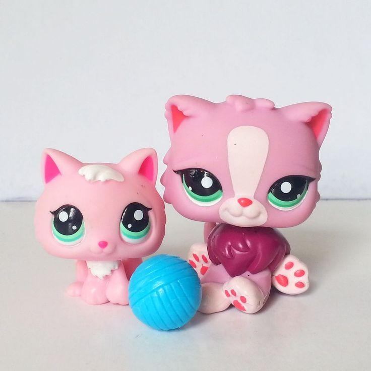 Littlest Pet Shop RARE Pink Kitten 2575 Persian Cat 2138 Cutest Collector LPS #Hasbro