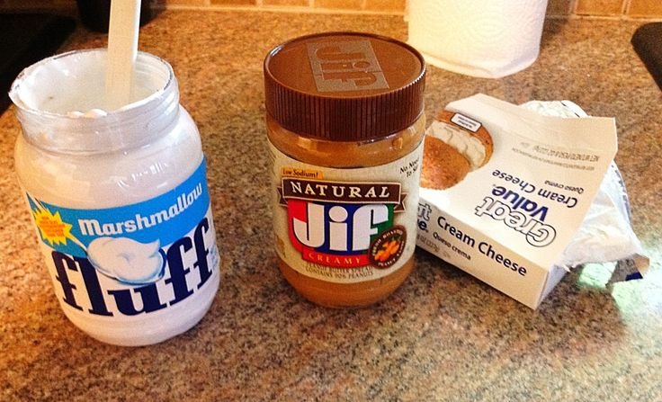Peanut butter dip - marshmallow fluff, cream cheese and peanut butter - could this BE any better?