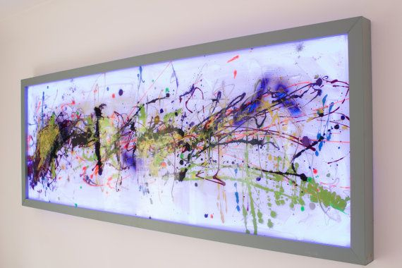 Extra Large Wall Art, Painted Glass, Unique Wall Sculpture, Abstract Glass Art,Modern Glass Painting,Graffiti Wall Decal,Unique Wall Art, Modern Home Decor - on Etsy by Craig Anthony - Reformations.co.uk   This Modern Abstract Glass Art piece, Measuring 70 x 26 is finished with a solid wood frame and features Remote Control LED backilighting. This is a guaranteed conversation starter and with the built it lighting it will not only brighten your day, but also your nights.   All pieces are…