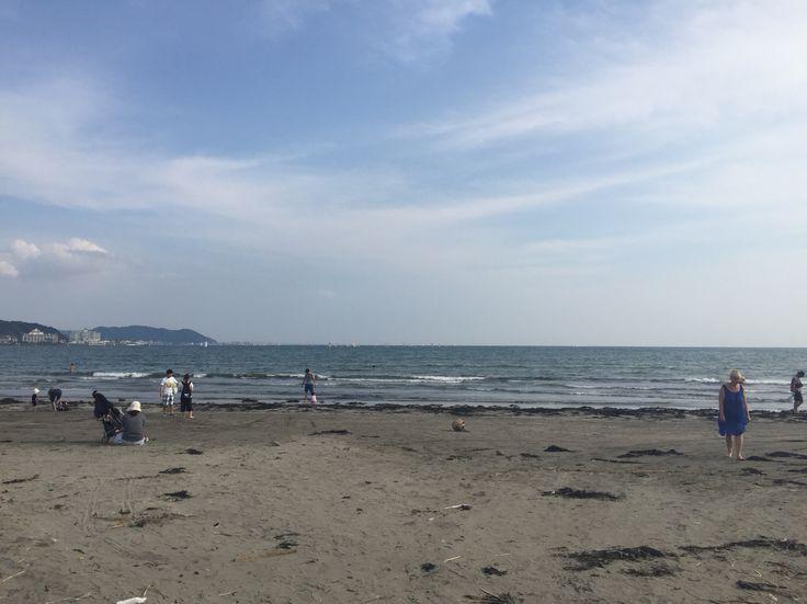 夏の終わりの由比ヶ浜