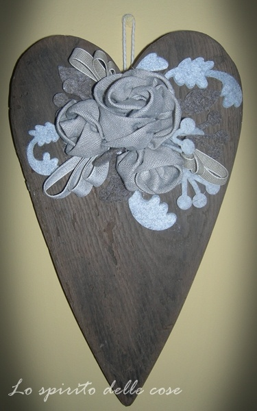 Decoration Heart wood DIY