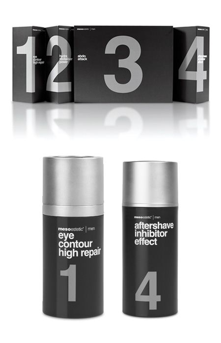 helvetica numbers - skin care product