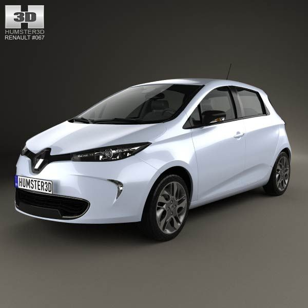 Renault Zoe 2013 3d model from humster3d.com. Price: $75