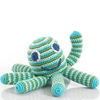 The octopus rattle was Pebble's first product and was designed when decided to launch the Pebble brand. Remembering how my little one had always liked rattles that you could both grab and chew at the same time, the octopus seemed a perfect match with its eight long legs. It's proved a huge hit an...