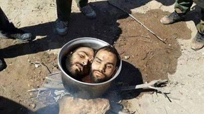 Muslims Take Two Men, Decapitate Them And Boil Their Heads NOTE. This is Stone Age mentality. They have not evolved.