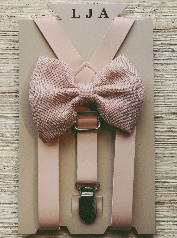 Blush pink Boys Burlap Bowtie/Suspender set baby boys/toddler/wedding groomsmen Suspenders/bow tie sets Toddler Braces/Bowtie by LondonJaeApparel on Etsy https://www.etsy.com/listing/551153197/blush-pink-boys-burlap-bowtiesuspender