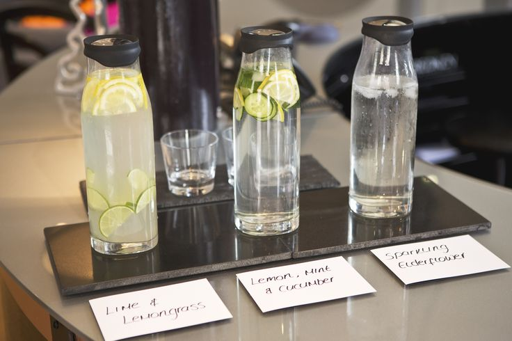 Our Drinks of the Season in our Tunbridge Wells Salon are flavoured water.