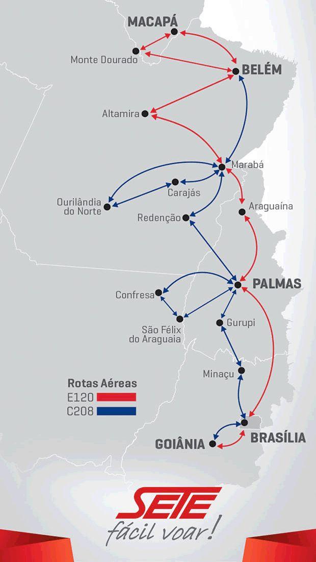 SETE Linhas Aereas route map