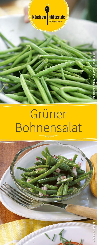 Der Salat aus frischen grünen Bohnen passt sehr gut zu gegrillten Lammkoteletts. Gerade keine Bohnen-Saison? Dann greift zu tiefgekühlten Bohnen.