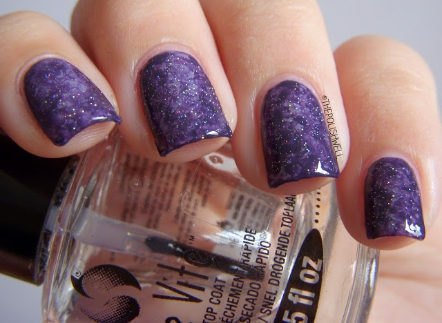 The Polish Well: Nail Ideas: Saran Wrap Nails!