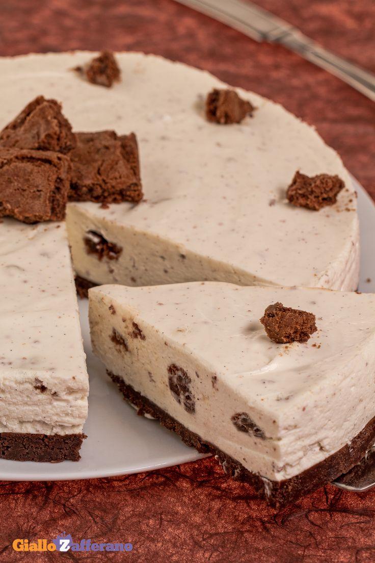 La #COOKIES #CHEESECAKE (cookie cheesecake) è una torta croccante e cremosa al punto giusto! Qui la #ricetta #GialloZafferano