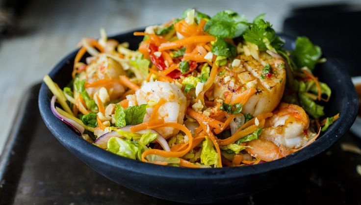 Thai salad with seafood...