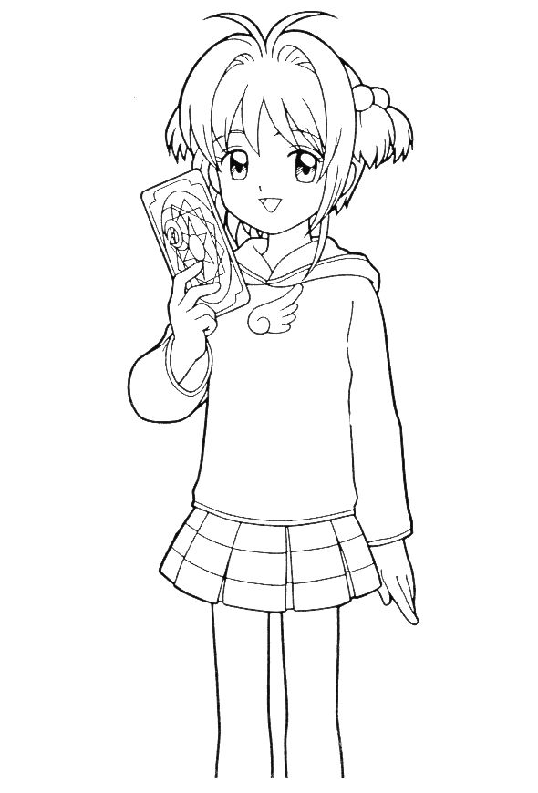 coloring pages cardcaptors - photo#21
