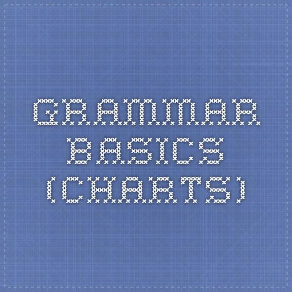 Grammar basics (charts)