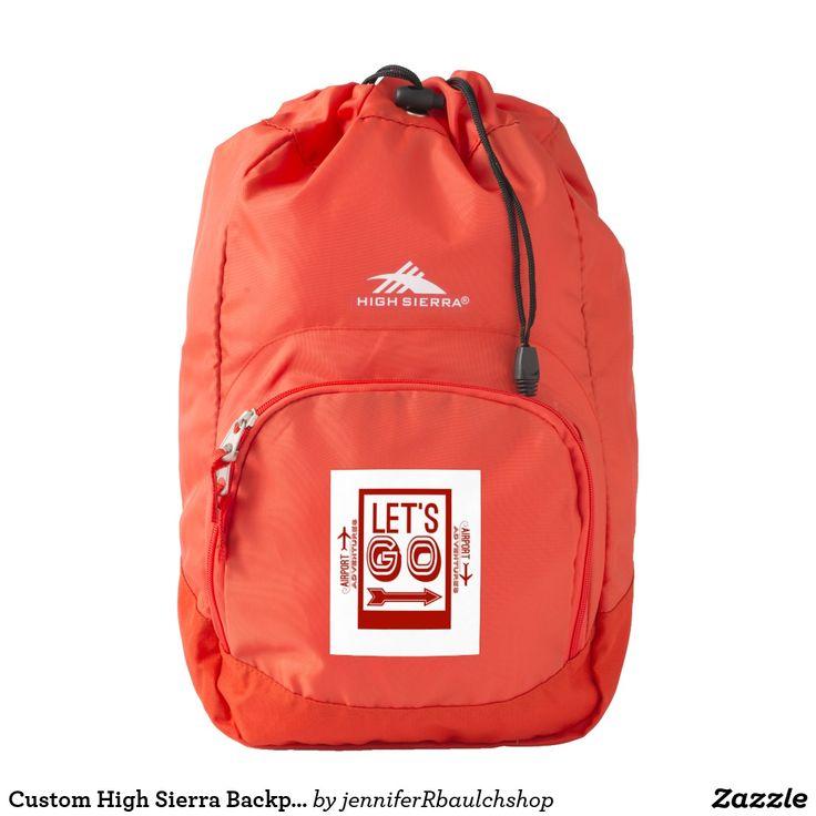 Custom High Sierra Backpack, Red