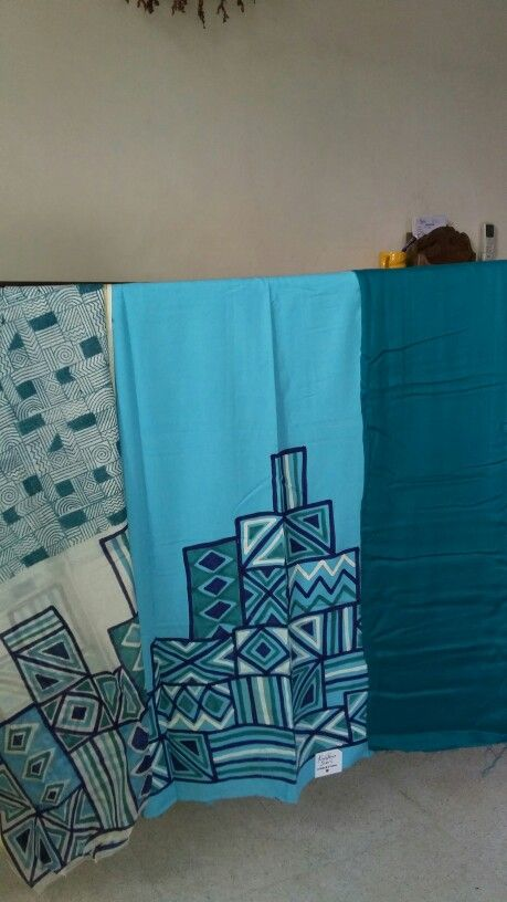 Kurta and chunni block and paint