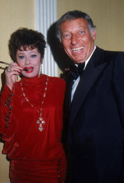 with husband gary morton her mame costume lucille ball
