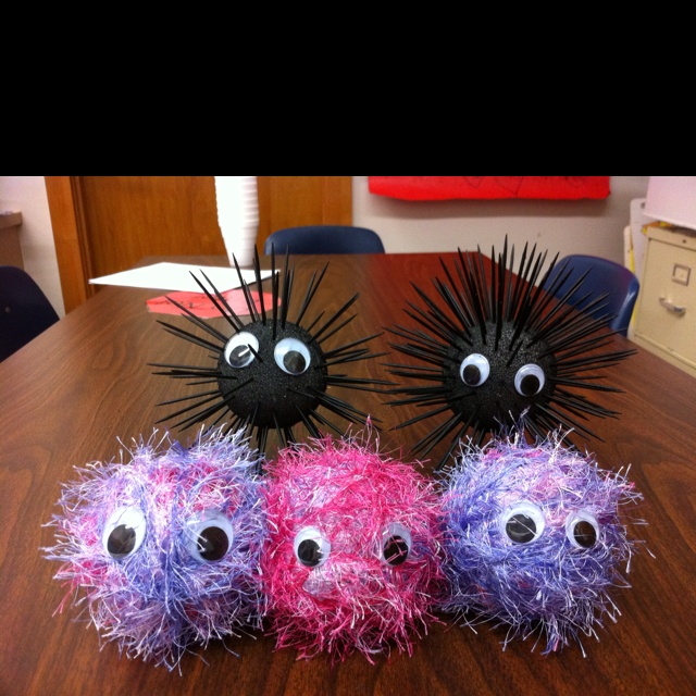 Warm fuzzies and cold pricklies! I used styrofoam balls, fuzzy yarn, toothpicks, googly eyes and spray paint to bring this concept to life for my small groups. I really think it helped them understand how words can hurt. Those toothpicks are kind of sharp!