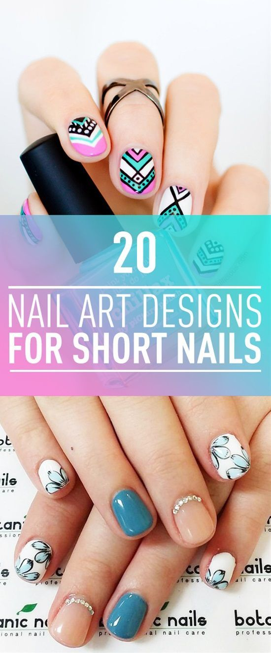 Many girls who have short nails think that it is difficult to have a nice manicure design. But this is so wrong if you choose the right nail polish color and design you can have nice and stylish nail art design even if your nails are too short.