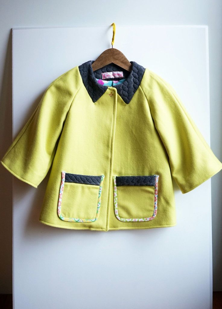 Mom and daughter winter jacket/coat, raglan  cape style,citron by couturierholiday on Etsy https://www.etsy.com/listing/257296715/mom-and-daughter-winter-jacketcoat