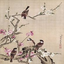 Grote custom wallpapers yu zhiyuan vogels boek gelukkige verjaardag bloem mural schilderen decoratie schilderijen(China (Mainland))