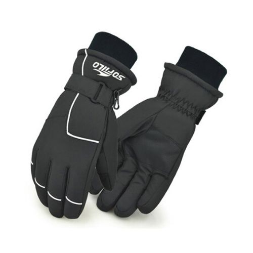 Unisex Winter Outdoor Sports Glove Thicken Windproof Warmest Gloves Dark Grey