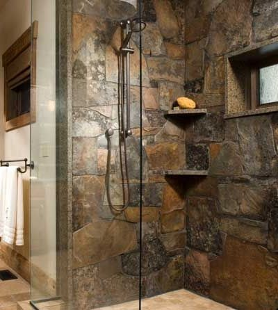 Best 25 slate shower ideas on pinterest slate bathroom for Cabin shower tile ideas