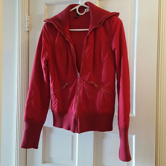 Red Bomber Jacket, Size 6 Lovely red bomber jacket in a size 6. H&M Jackets & Coats Utility Jackets