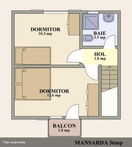 proiecte de case de 70 de metri patrati 70 square meter house plans 5
