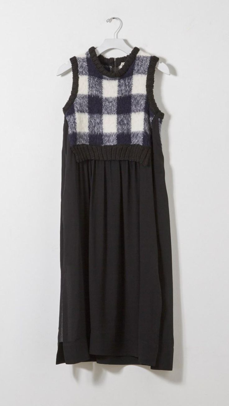 Sea NY Gingham and Silk Dress in Navy and White | The Dreslyn