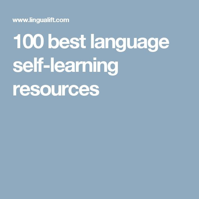100 best language self-learning resources