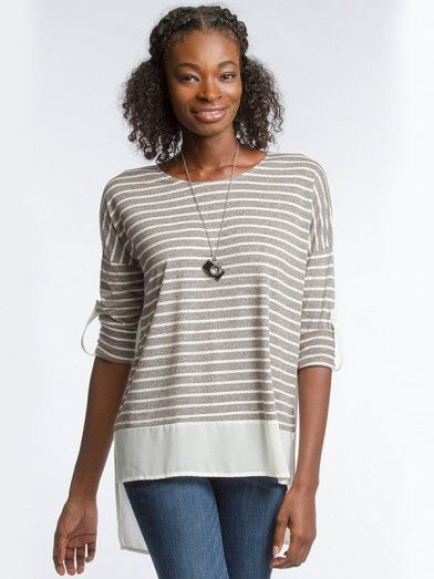 Stripe With Contrast Top