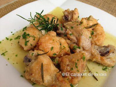 El calaixet de la iaia: Pollo en salsa de cerveza al romero en olla rápida paso a paso