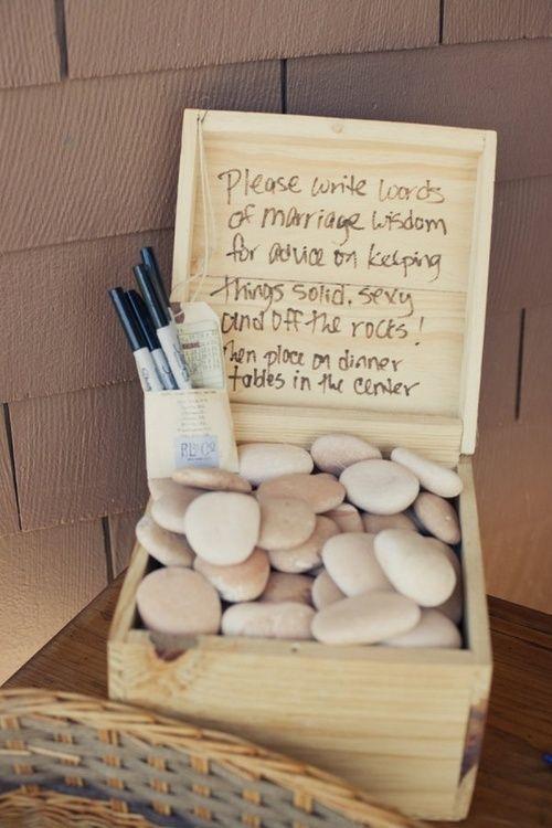 Bridal Shower Guest Book Wedding Advice Wisdom Ideas For