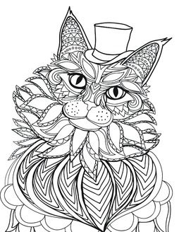 458 best Cats Dogs Coloring Pages for Adults images on Pinterest