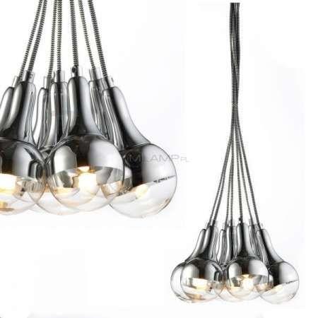 LAMPA wisząca DALLAS 102841 Markslojd dekoracyjna OPRAWA żarówka sznurki chrom
