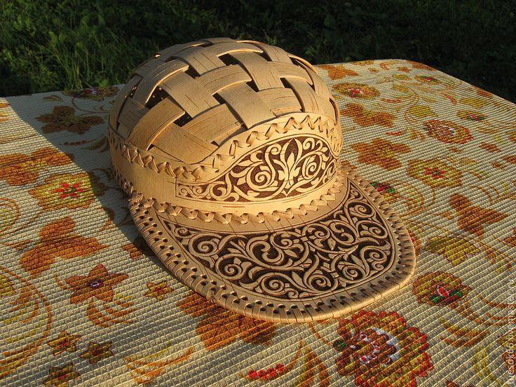 Купить Кепка из бересты - кепка, кепка из бересты, изделия из бересты, береста, купить кепку