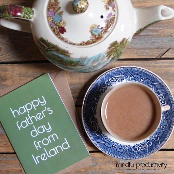 Giorno del padre felice da Irlanda carta padri giorno