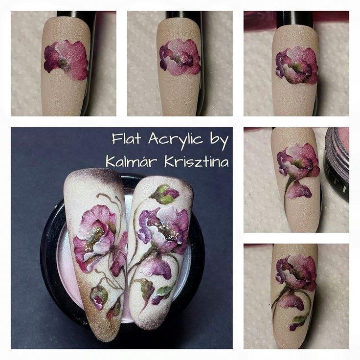 Nail flower nail