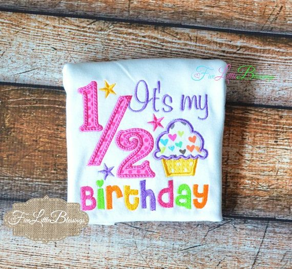 Happy half birthday half birthday cupcake by 5littleblessings