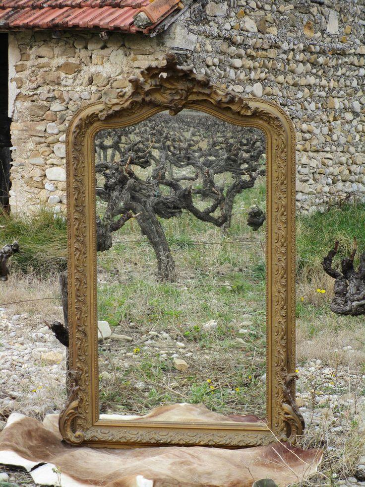 Louis XV style gilt mirror 148cm