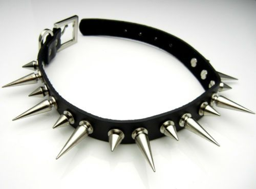 $10.45 TEN114 Long 15 30mm Metal Spike Collar Choker Necklace Punk Emo Biker Gothic | eBay
