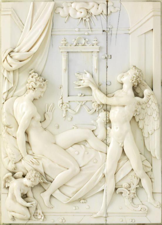 Nicolas Pfaff (Nüremberg, Vers 1556 - Prague ?, Vers 1612), Danaé, Prague, vers 1601-1607. MAD 1144. Don Baboin, 1931. © Musée des Arts décoratifs de Lyon, Pierre Verrier