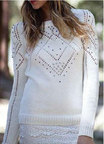 white knit jumper... <3