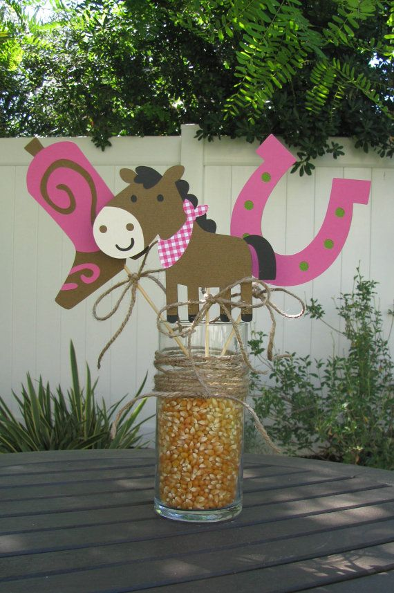 Cowgirl Table Decorations / Cake Smasher  Set of by mypaperpantry, $9.00