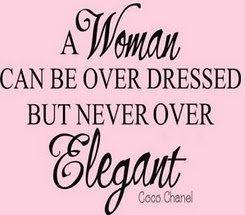 Dressed with elegance